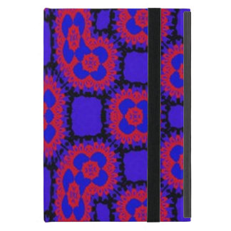 Blue red pattern cover for iPad mini