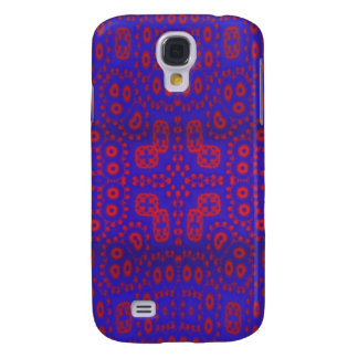 Blue red pattern galaxy s4 case