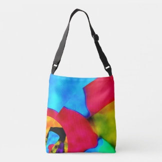 Blue  red pictorial  tote  bag