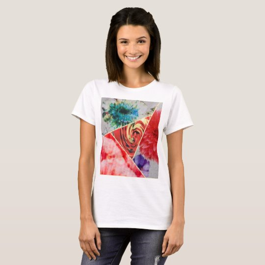 BLUE,,RED , PINK, FLORAL T-Shirt