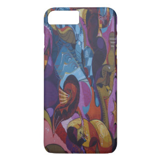 Blue red purple abstract graffiti iPhone 8 plus/7 plus case