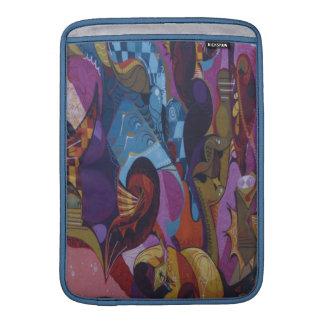Blue red purple abstract graffiti MacBook sleeves