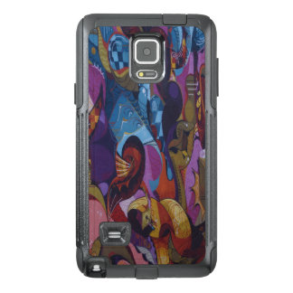 Blue red purple abstract graffiti OtterBox samsung note 4 case