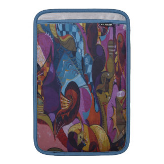 Blue red purple abstract graffiti sleeve for MacBook air