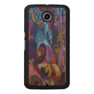 Blue red purple abstract graffiti wood phone case