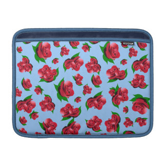 Blue & Red Rose Pattern Sleeve For MacBook Air
