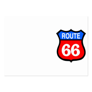Blue & Red Route 66 Sign Pack Of Chubby Business Cards