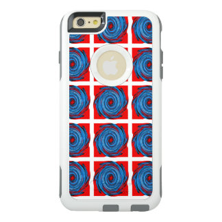Blue Red Swirl Abstract Pattern OtterBox iPhone 6/6s Plus Case