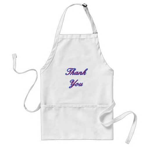 Blue Red Thank You Design The MUSEUM Zazzle Gifts Apron