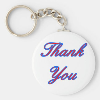 Blue Red Thank You Design The MUSEUM Zazzle Gifts Key Chains