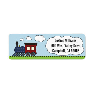 Blue/Red Train Address Labels