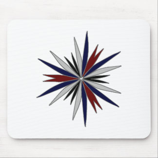 Blue Red White Star Design Mouse Pad