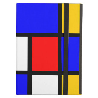 Blue red yellow Mondrian iPad Air Cases