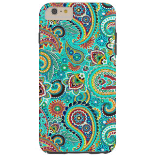 Blue Red Yellow Paisley Tough iPhone 6 Plus Case