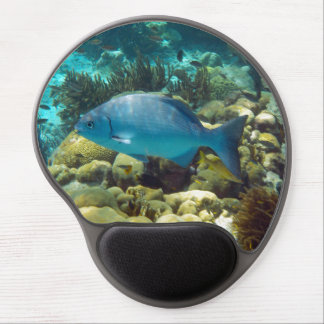 Blue Reef Fish Gel Mouse Pad
