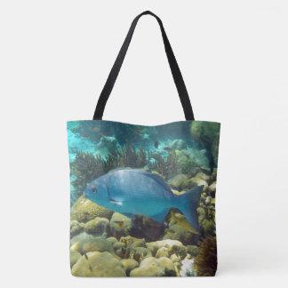 Blue Reef Fish Tote Bag