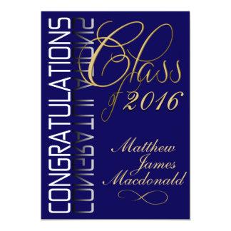 Blue Reflection 2016 Formal Graduation Party 13 Cm X 18 Cm Invitation Card
