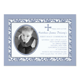 Blue Reflection Photo Invitation