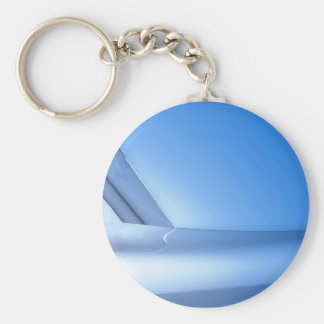 blue reflections basic round button key ring