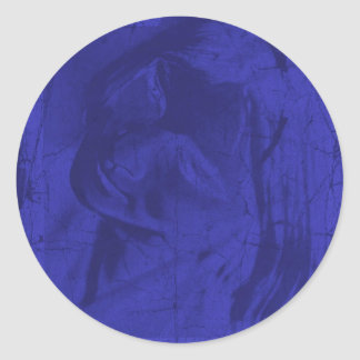 Blue Reflections Classic Round Sticker