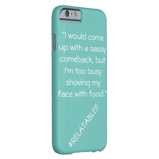Blue #Relatable phone case