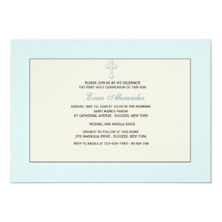 Blue Religious Invitation
