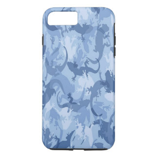 Blue Reptile Camouflage iPhone 7 Case