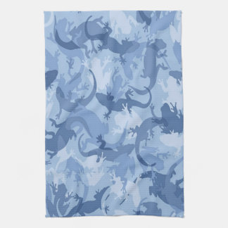 Blue Reptile Camouflage Kitchen Towel