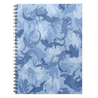 Blue Reptile Camouflage Spiral Notebook