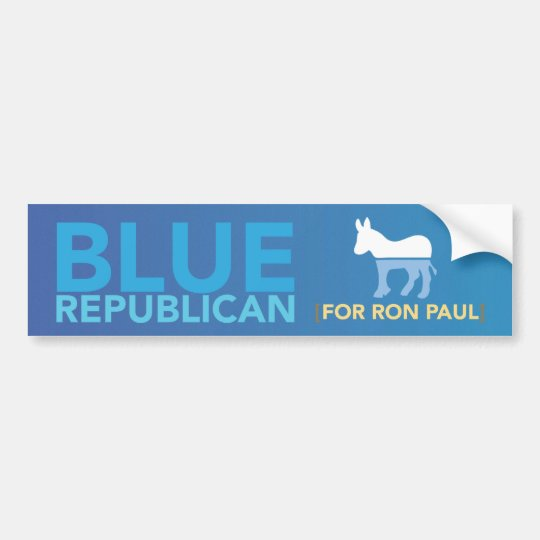 Blue Republican Bumper Sticker