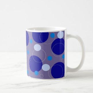 Blue Retro Circles Mug
