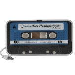 Blue Retro Mixtape Cassette Personalised Speaker