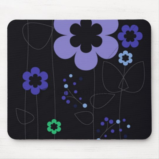 blue retro mouse pad