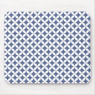 Blue Retro pattern mousepad