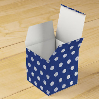 Blue Retro Rustic Polka Dots Favour Box