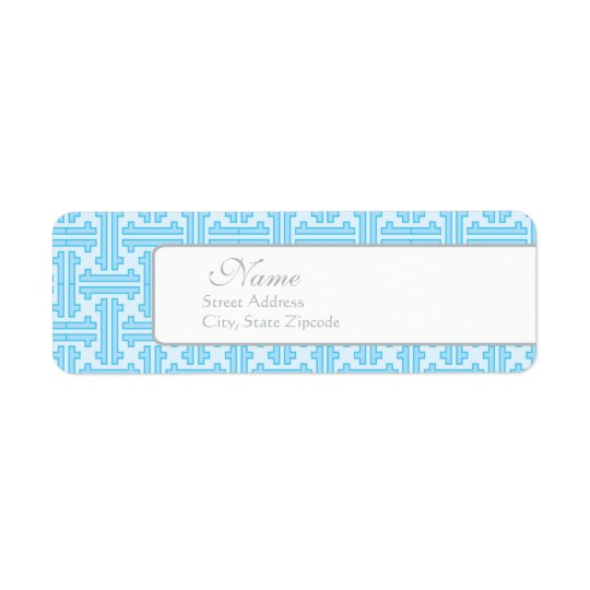 Blue Return Address Label