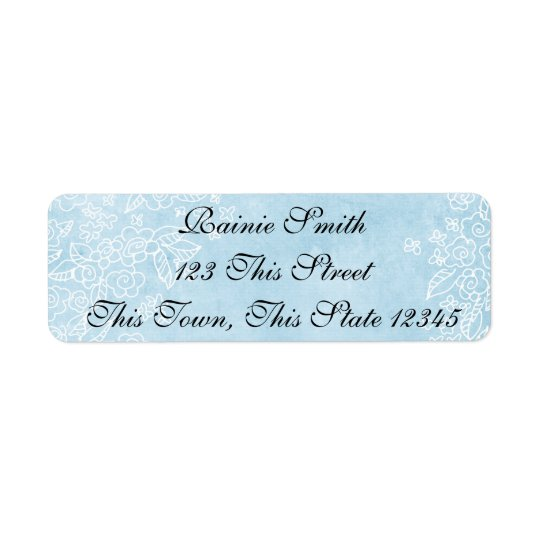 Blue Return Address Labels