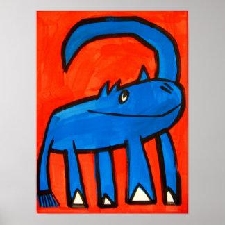 Blue Rhino Print