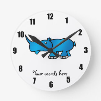 Blue rhino wall clock