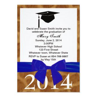 Blue Ribbon And Giraffe Graduation Invitation