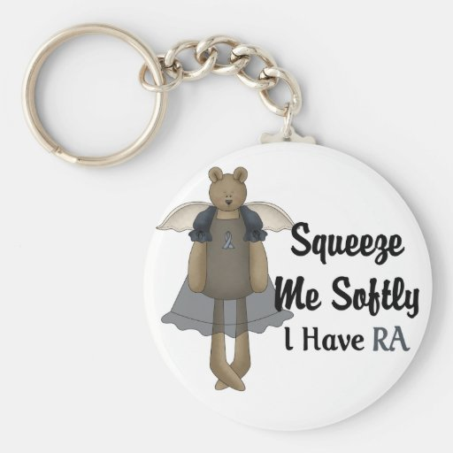 Blue Ribbon Angel Bear :: Squeeze Me Softly. Keychain