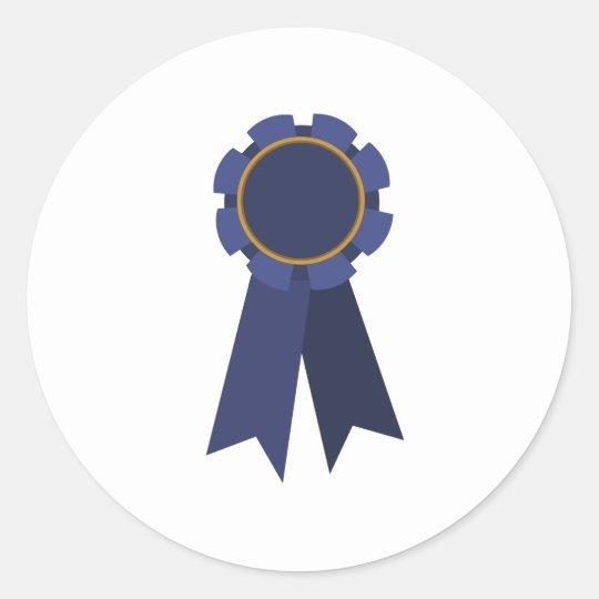 Blue Ribbon Classic Round Sticker