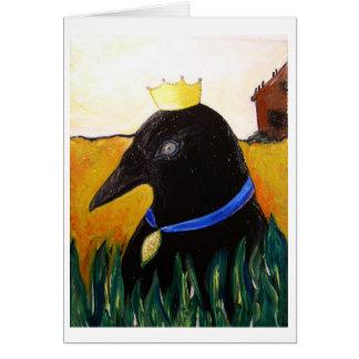 Blue Ribbon Crow Card