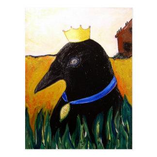 Blue Ribbon Crow Post Card