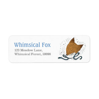 Blue Ribbon, Fox Return Address Label