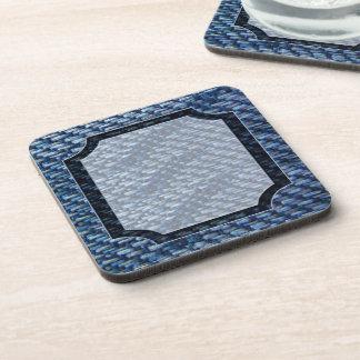 Blue Ribbon Pattern Drink Coaster