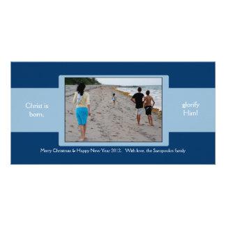 Blue Ribbon Photo Card