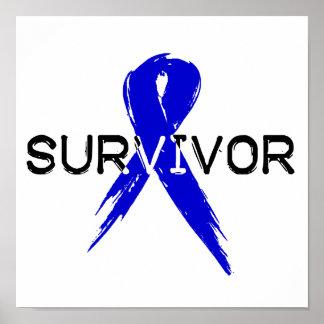 Blue Ribbon- Survivor Poster