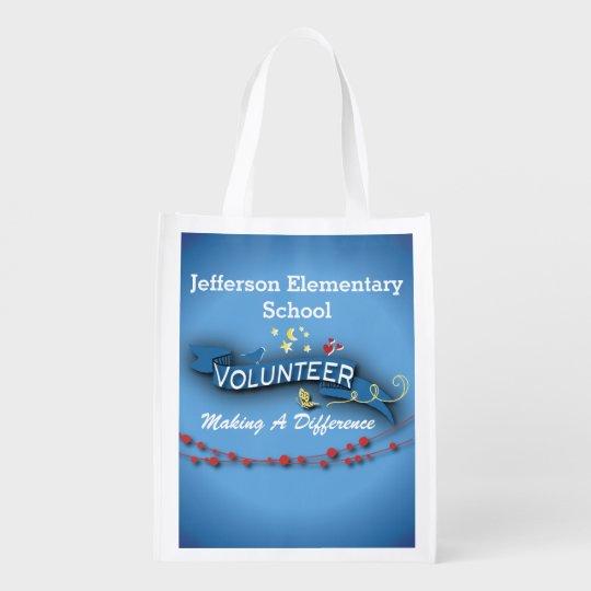 Blue Ribbon Volunteer Reusable Grocery Bag
