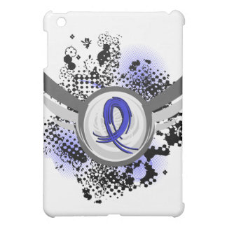 Blue Ribbon With Wings Rectal Cancer iPad Mini Cover